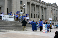 Execution protest rally State Capitol LR 04-14-17